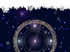 Snowy Night Clock L.Wallpaper 1.0.3 Screenshot