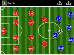 Soccer coach's clipboard 2 1.6 Screenshot