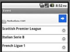 Soccer Live Score 1 Screenshot
