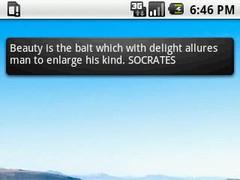 Socrates Quotes Widget 4x1 1.1 Screenshot