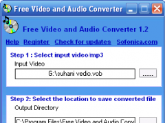 Sofonica Video and Audio Converter 1.2 Screenshot
