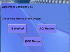 Software assisted Mix design of concrete  Screenshot