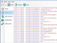 Solar FTP Server 2.2 Screenshot