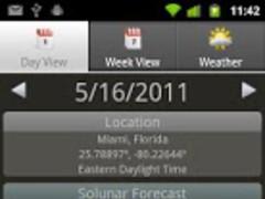 SolunarCast - Outdoor Forecast 1.5 Screenshot