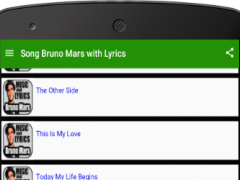 Song Bruno Mars with Lyrics 1.0 Screenshot