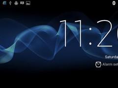 Sony Xperia S Desk Clock 1.2 Screenshot