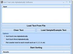 Sort Text Lists Alphabetically Software 7.0 Screenshot