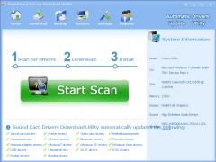 Sound Card Drivers Download Utility 3.5.3 Screenshot