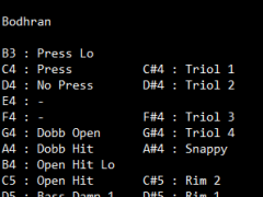 Bodhran SoundFont 1.0 Screenshot