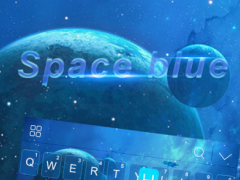 Space Blue Kika Keyboard theme 408.0 Screenshot