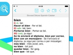Spanish Catalan Slovoed Deluxe talking dictionary 3.58.291 Screenshot