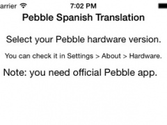 Spanish Translation for Pebble 2.4.1 Screenshot