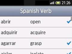 Spanish Verbs Lite 2.5 Screenshot