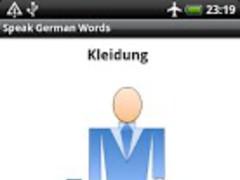 Speak German Words Free 1.3 Screenshot