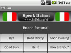 Speak Italian Free 1.3 Screenshot