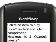 Speak Spanish Translator Blackberry 1.0 Screenshot