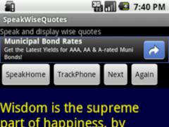 SpeakWiseQuotes 1.3 Screenshot