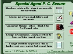 Special Agent PC Secure 1.3.01 Screenshot