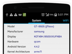Specs of Android | CPU Z 1.3 Screenshot