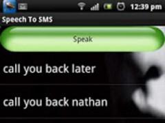 Speech To SMS 1.0 Screenshot