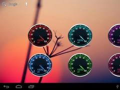 Speedometer battery widget PRO 4.0.1 Screenshot