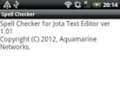 Spell Checker for Jota 1.01 Screenshot