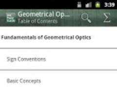 SPIE Geometrical Optics 1.1 Screenshot