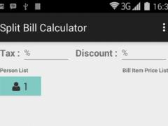 Split Bill Calculator 2.0 Screenshot