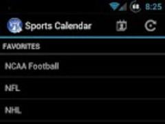Sports Calendar  Screenshot