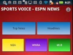 Sports Voice - ESPN Headlines 1.1 Screenshot