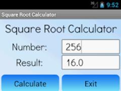 Square Root Calculator Pro 1.414213 Screenshot