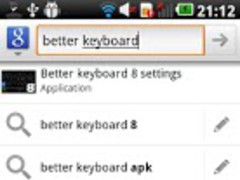 Squared Cyan HD Keyboard Theme 2 Screenshot