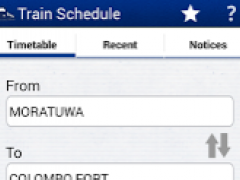 Sri Lanka Train Schedule 2.1 Screenshot