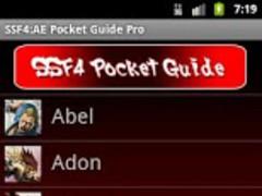 SSF4 AE Pocket Guide Pro 1.2 Screenshot
