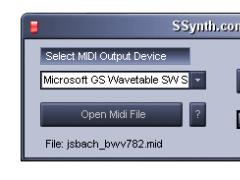 SSynth.com MIDI File Player 201.02 Screenshot