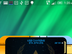 Starfleet LCARS Clock 1.20 Screenshot