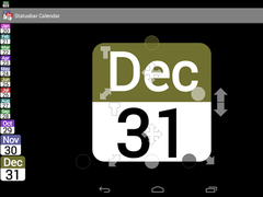 Status bar Calendar Demo 2.11 Screenshot
