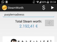 SteamWorth 2.1.1 Screenshot
