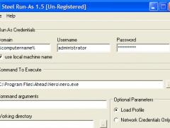 Steel RunAs 1.6 Screenshot