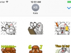 Sticker Dog Poodles 1.1 Screenshot