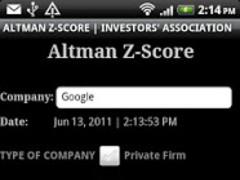 Stock Market | Altman Z-Score 2.0 Screenshot