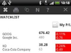 Stocks Watchlist Free 5.1 Screenshot