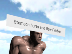 Stomach hurts and flew Frisbee 1.0 Screenshot