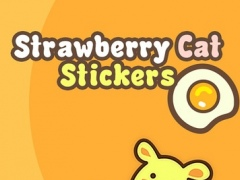 Strawberry Cat - Cute Stickers by NICE Sticker 1.0 Screenshot
