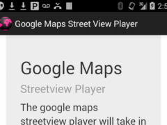 Streetview Player 1.0 Screenshot