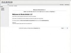 Struts Article 1.1 Screenshot