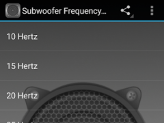 Subwoofer Frequency Test 1.0 Screenshot