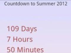 Summer 2013 Countdown 1.1 Screenshot