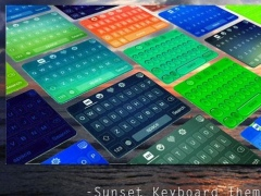 Sunset Keyboard Theme Emoji 1.4 Screenshot