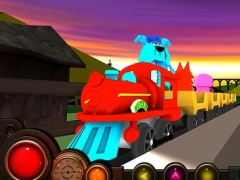 Sunset Train 3D - top fun railroad simulator game for kids 1.3 Screenshot